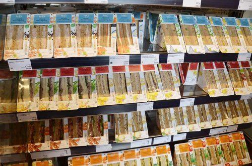 Sandwich-Auswahl in London