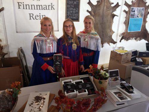 Elch- und Rentierfleisch auf der Matstreif in Oslo