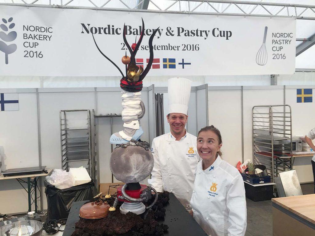 Das finnländische Team auf dem Nordic Bakery Cup in Oslo