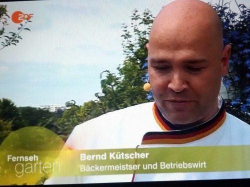 Als Brotexperte im ZDF Fernsehgarten