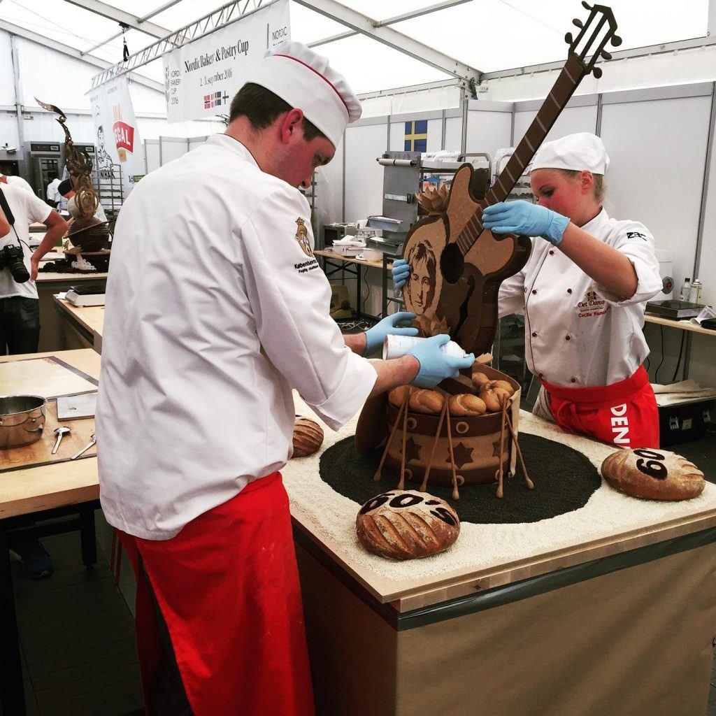 Das Norwegische Teams am Nordic Bakery Cup